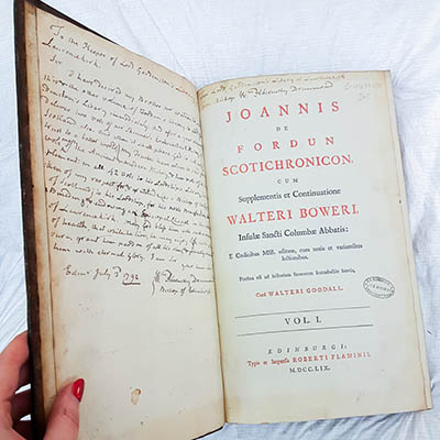 historical book from the Brechin Collection