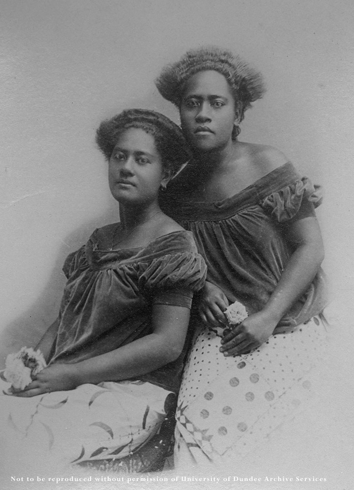 Portrait of two Polynesian women