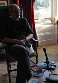 Alistair Brodie recording his oral history and telling about his life and work with music