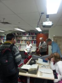 Local group on a tour of the Archive