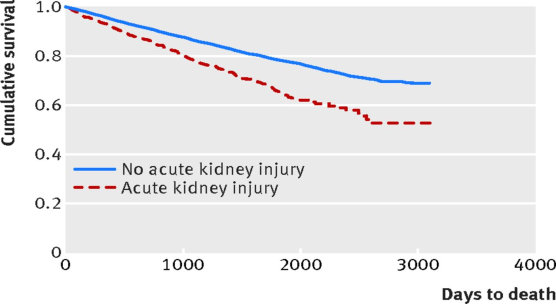 Risk of postoperative acute kidney injury in patients undergoing orthopaedic surgery.