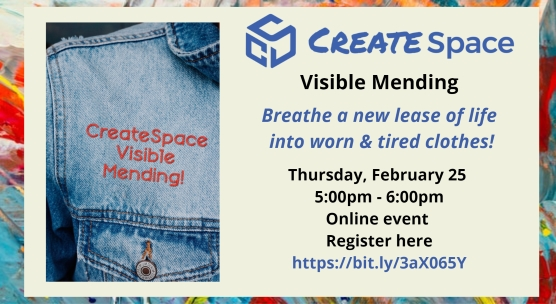 CreateSpace Visible Mending event