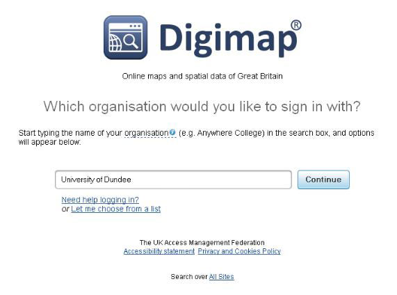 Information about digimap