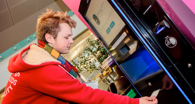 Image of student using the services