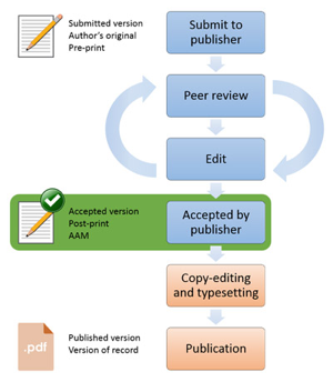 Diagram of the steps to take to submit to publisher