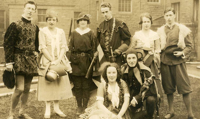 Students in the 1920s performing As You Like It