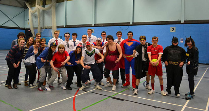 Students versus staff charity football match 2013