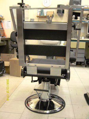 a therapy chair for use in the Photobiology unit