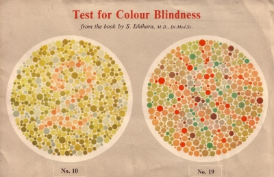 Test for colour blindness