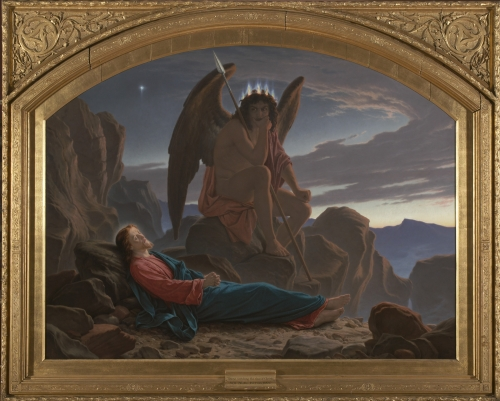 Satan watching the sleep of Christ by Noel Paton
