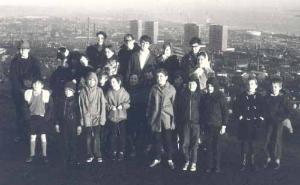 Members of DAG on Dundee Law, 1971