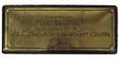 Plaque from DRI Bed endowed by D C Thomson, 1927