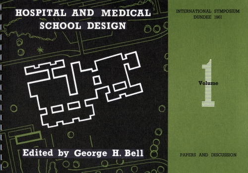 Cover of programme for symposium on hospital design, 1961