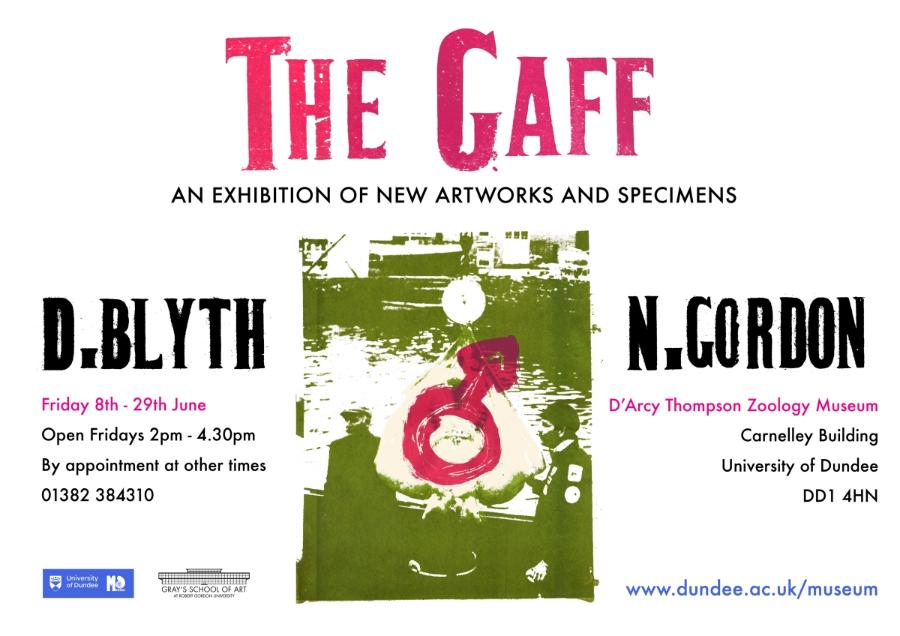 Poster for The Gaff exhibition