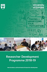 Front cover image Researcher development programme