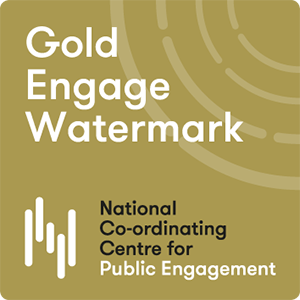 The Gold Engage Watermark awarded to the School of Life Sciences at the Uniersity of Dundee in 2017.