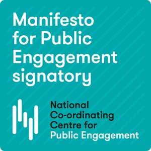 The logo for signatories of the Manifesto for Public Engagement