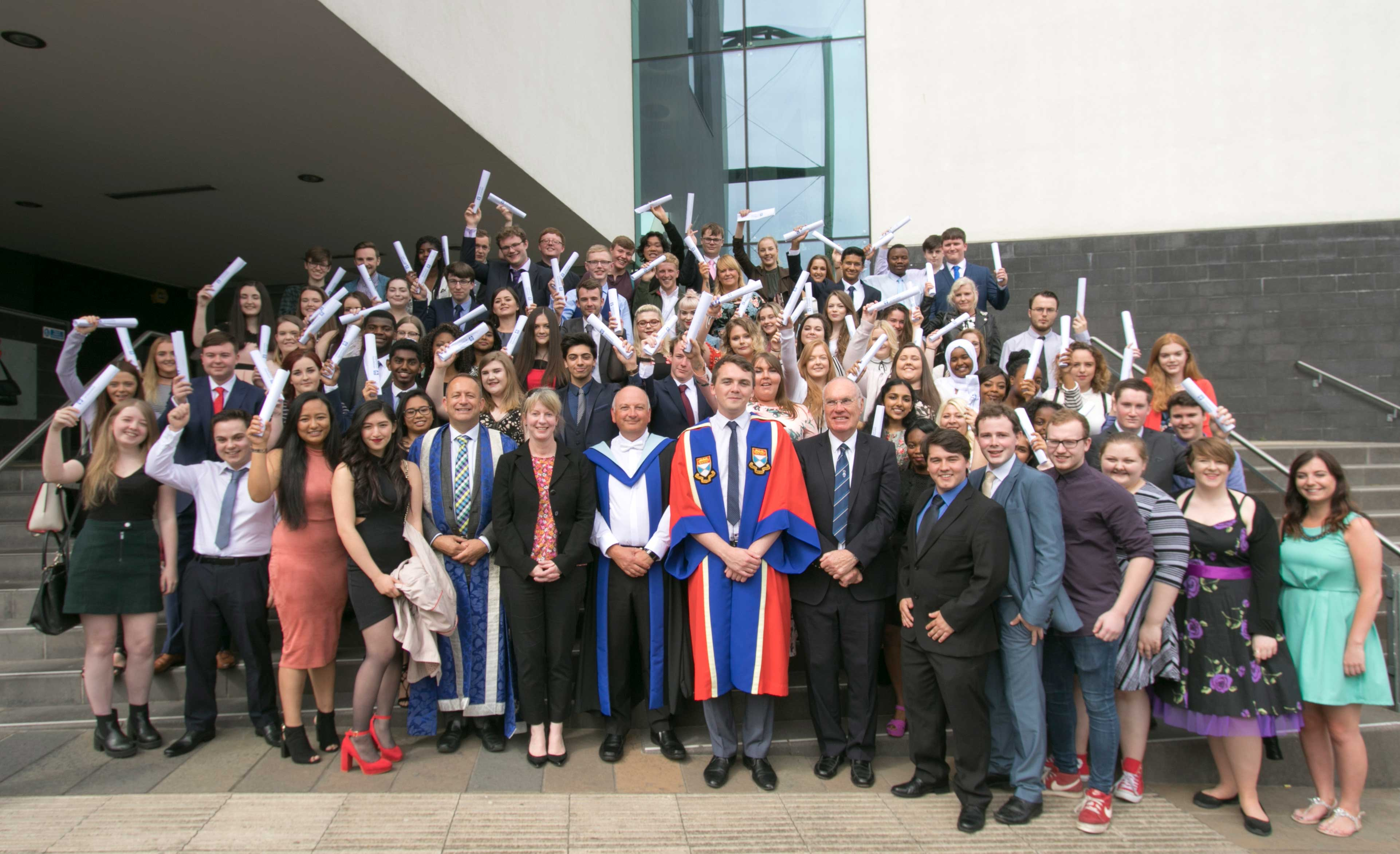 Photo of students graduating from DUAL summer school