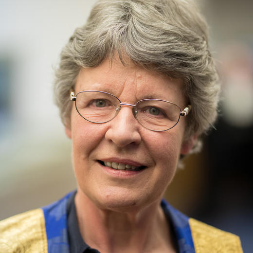 Portrait photograph of Jocelyn Bell Burnell