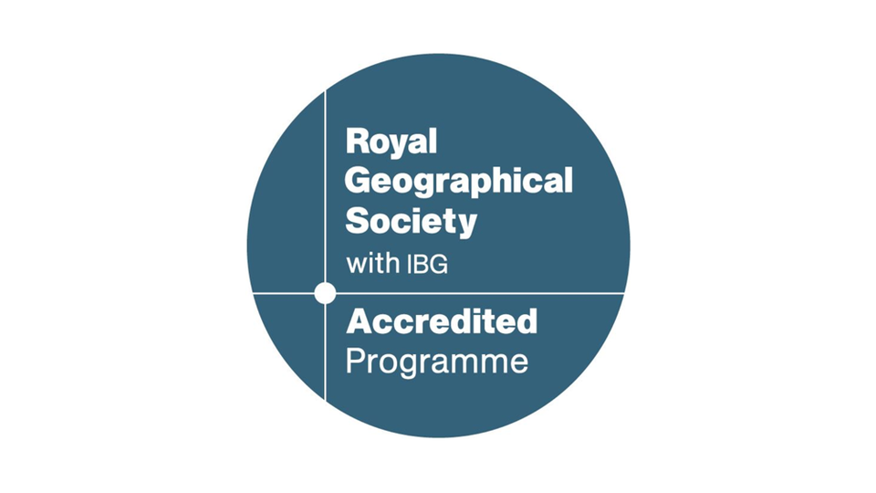 The accreditation logo for the Royal Geographical Society