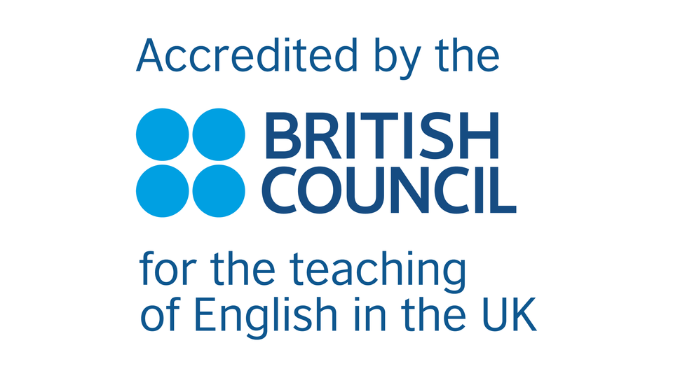 Logo of the British Council English language accreditation