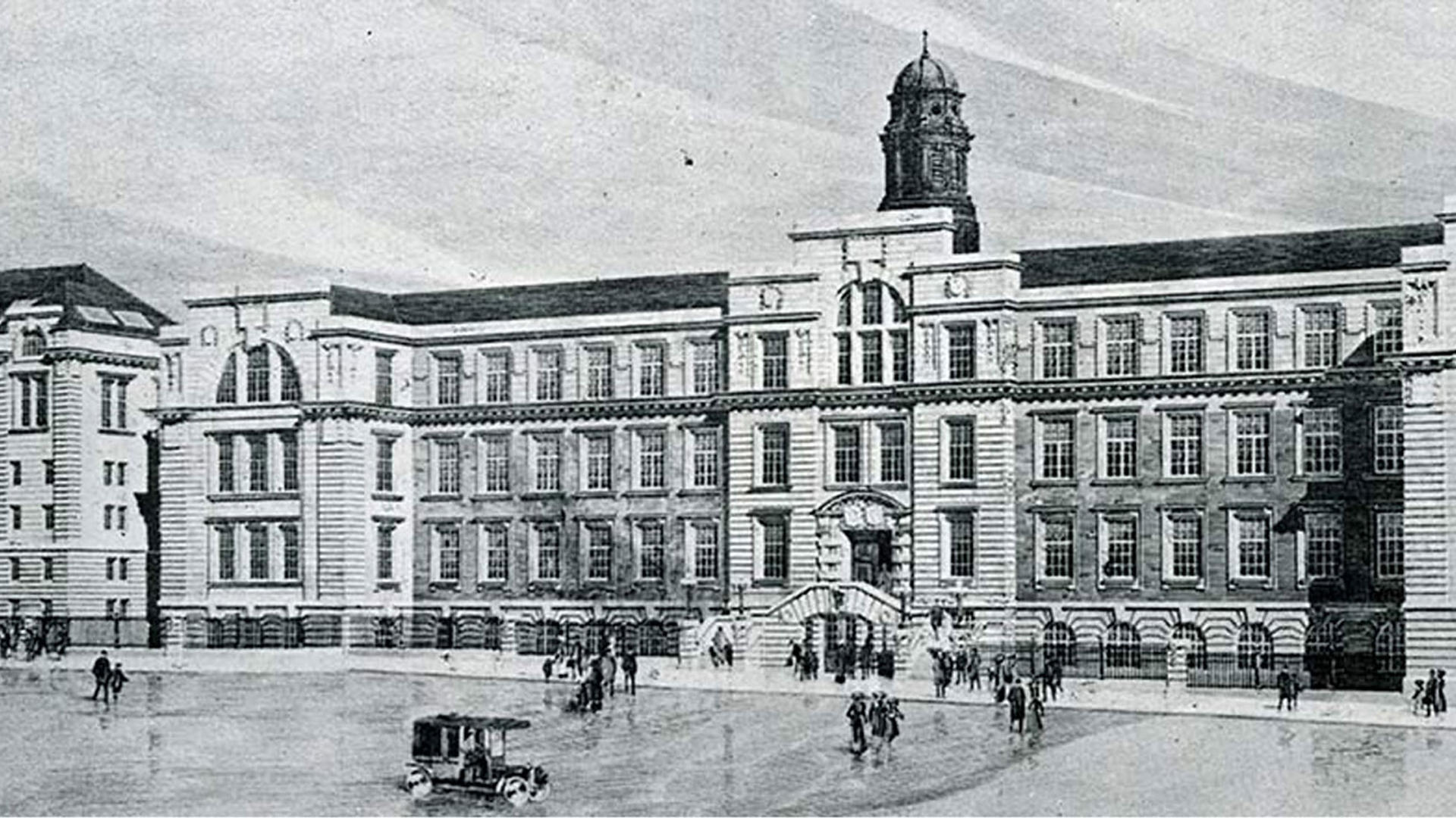 The college building on Park Place in 1932