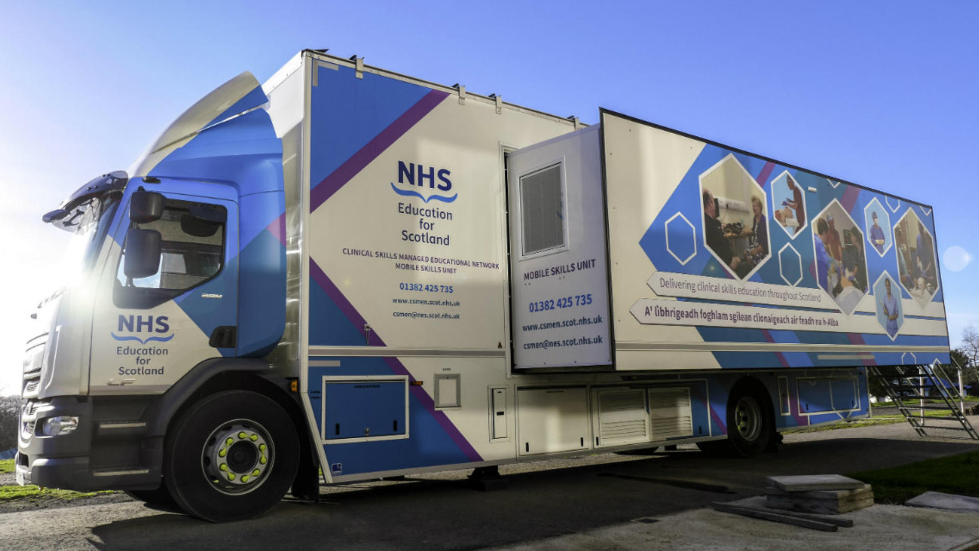NHS Scotland branded lorry