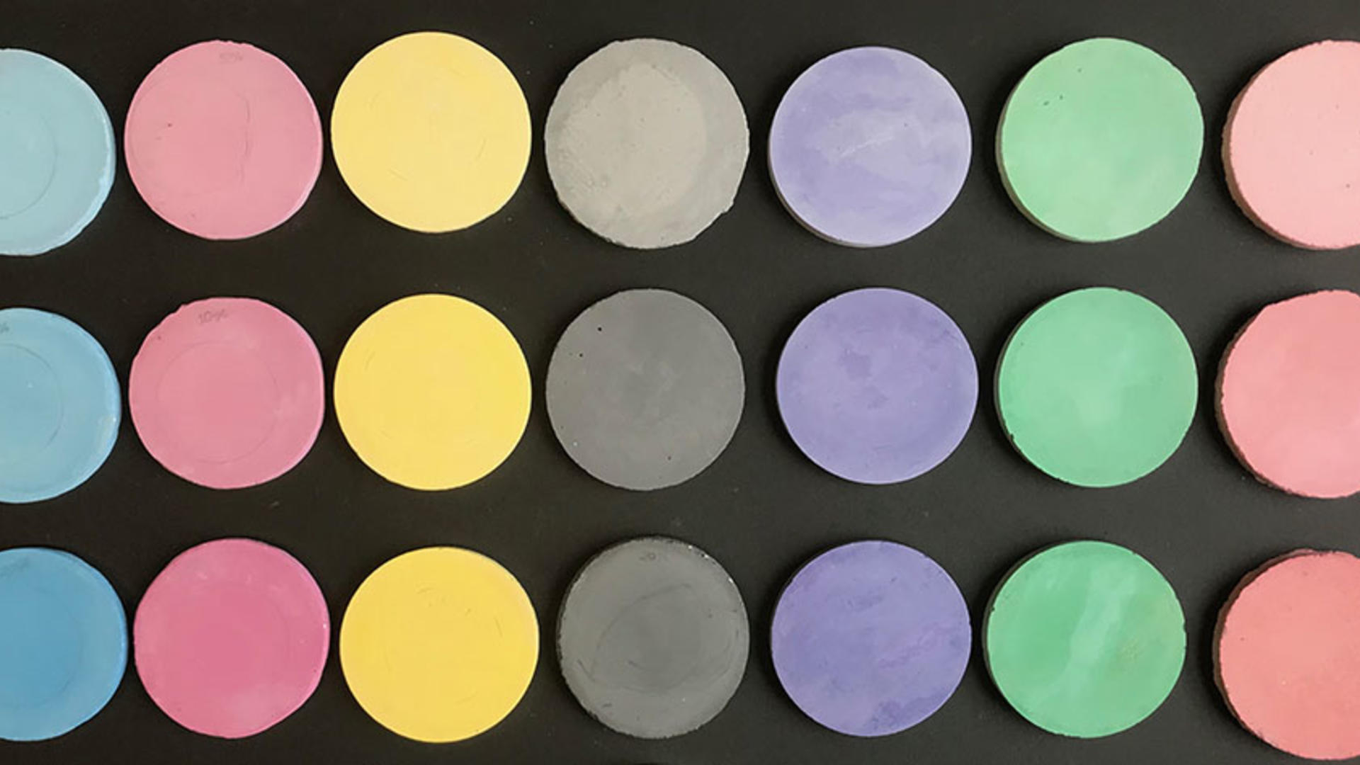 Coloured concrete samples