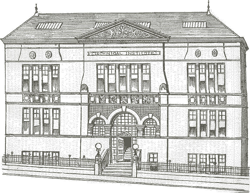 Drawing of the Technical Institute on Small's Wynd